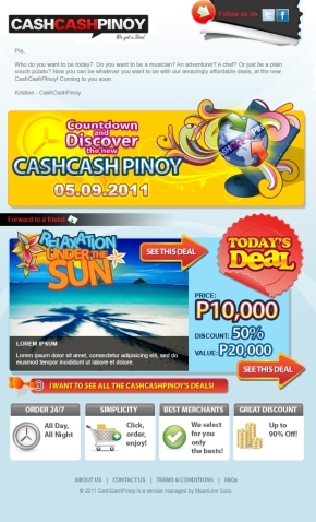 Cash Cash Pinoy eMailer Concept