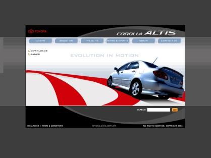 Toyota Altis proposal website
