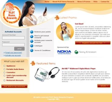 PLDT Home Rewards website