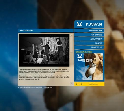 Kjwan's official band website 2008