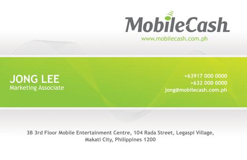 Mobile Cash Logo and Biz Card
