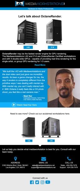 OctaneRender promotion in the MediaWorkstation.net website